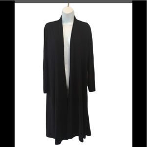 Eileen Fisher Long Black Cardigan Size S/P